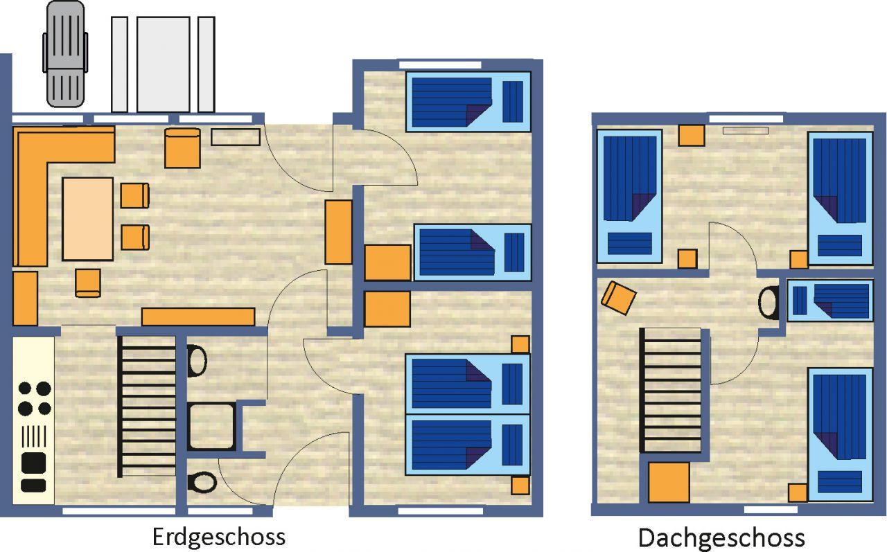 ferienhaus typ 1 die sonnenmatte. Black Bedroom Furniture Sets. Home Design Ideas